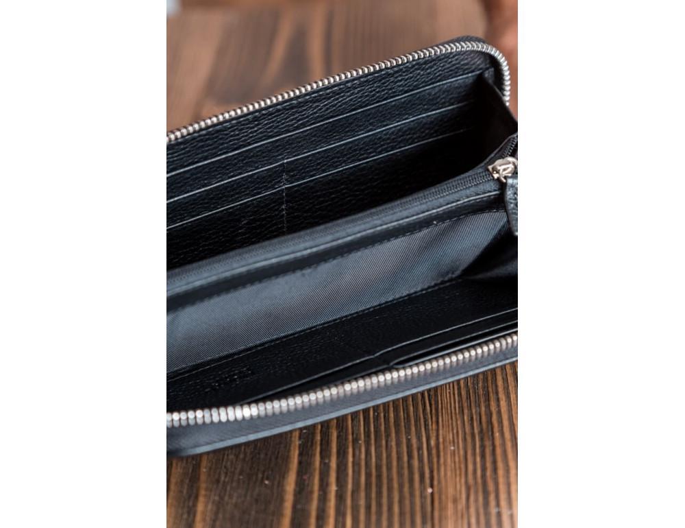 Кожаный клатч Montblanc MOH-05 черный - Фото № 4