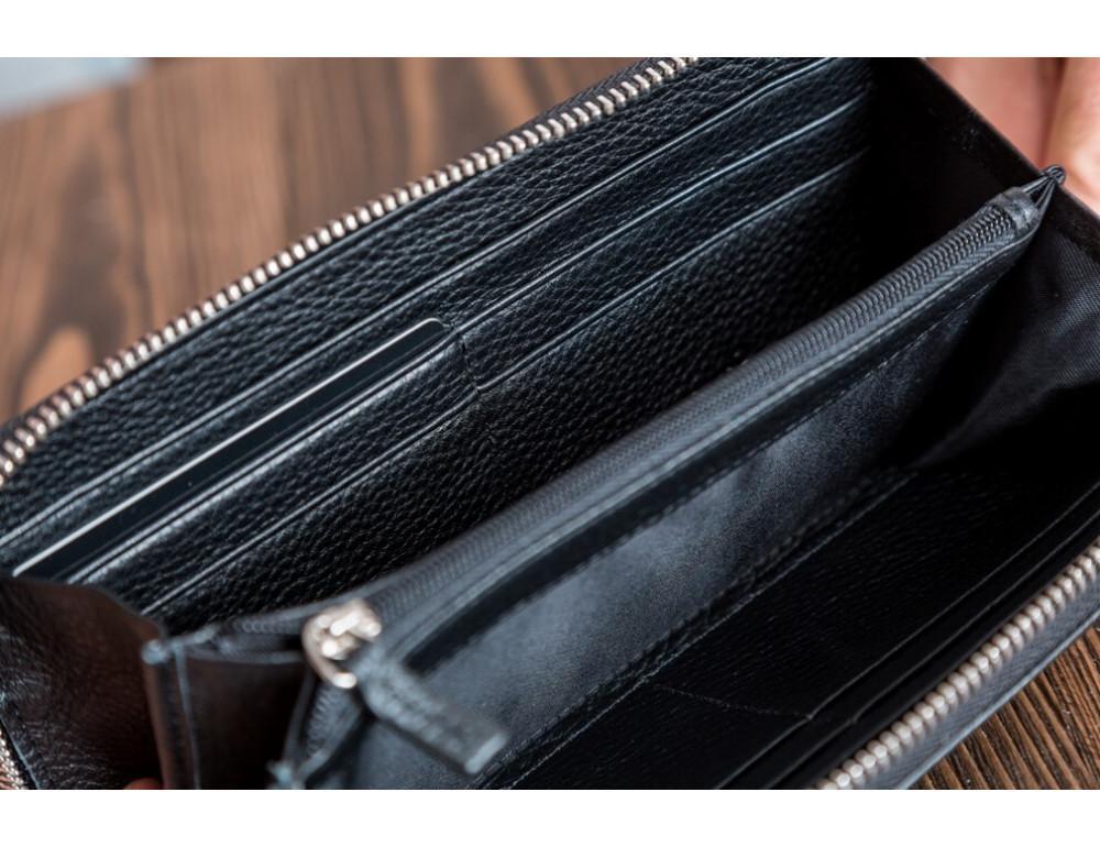 Кожаный клатч Montblanc MOH-05 черный - Фото № 5