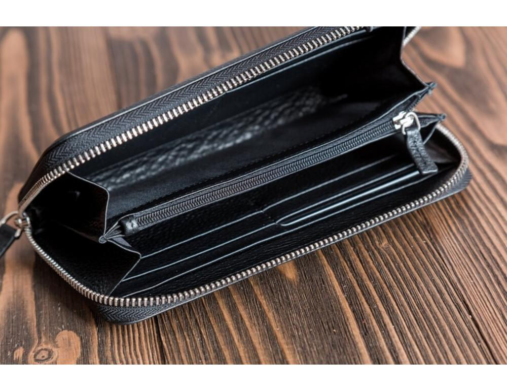 Кожаный клатч Montblanc MOH-05 черный - Фото № 6