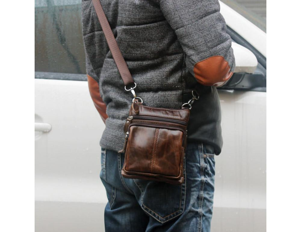 Мужская кожаная сумка-мессенджер Bexhill BX124 - Фото № 13