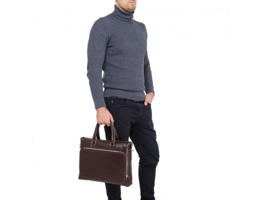 Мужская кожаная сумка TIDING BAG NM17-9065-5C - Фото № 5