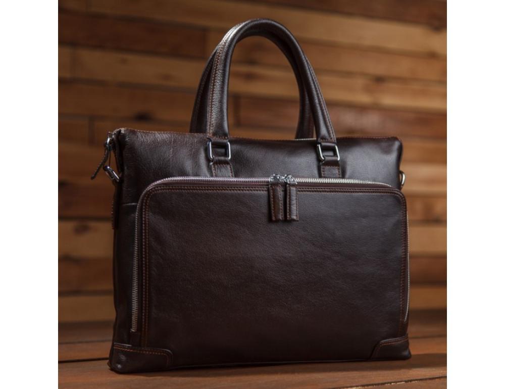 Мужская кожаная сумка TIDING BAG NM17-9065-5C - Фото № 6