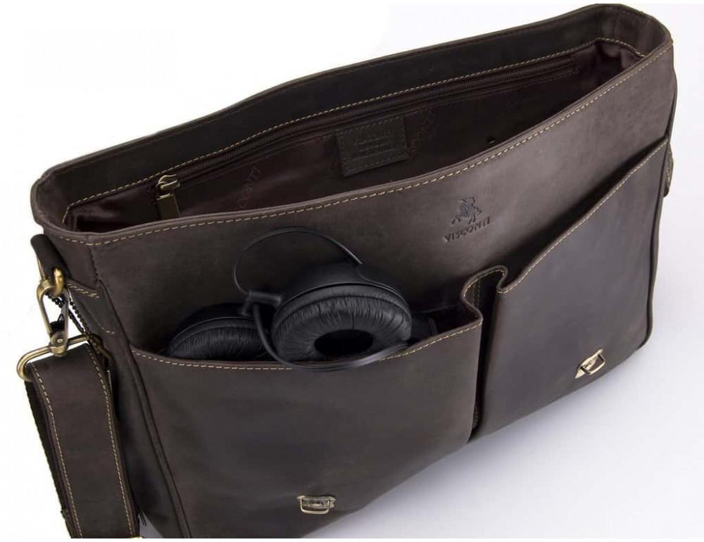 Кожаный Портфель Visconti 18716 - Berlin тёмно-коричневый - Фото № 3