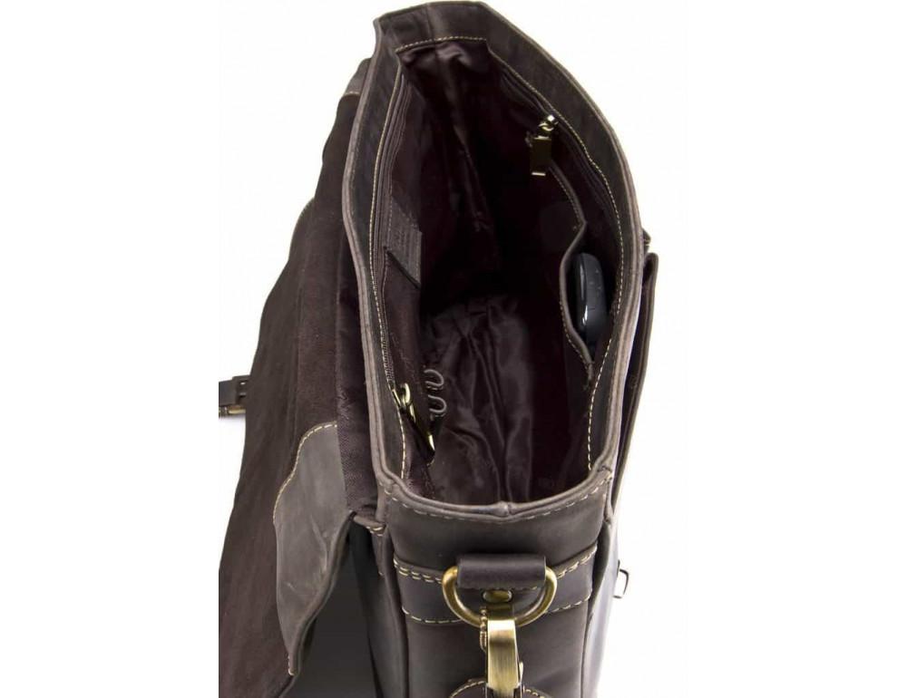 Кожаный Портфель Visconti 18716 - Berlin тёмно-коричневый - Фото № 4
