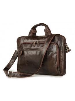 Мужской кожаный портфель JASPER-MAINE 7334Q