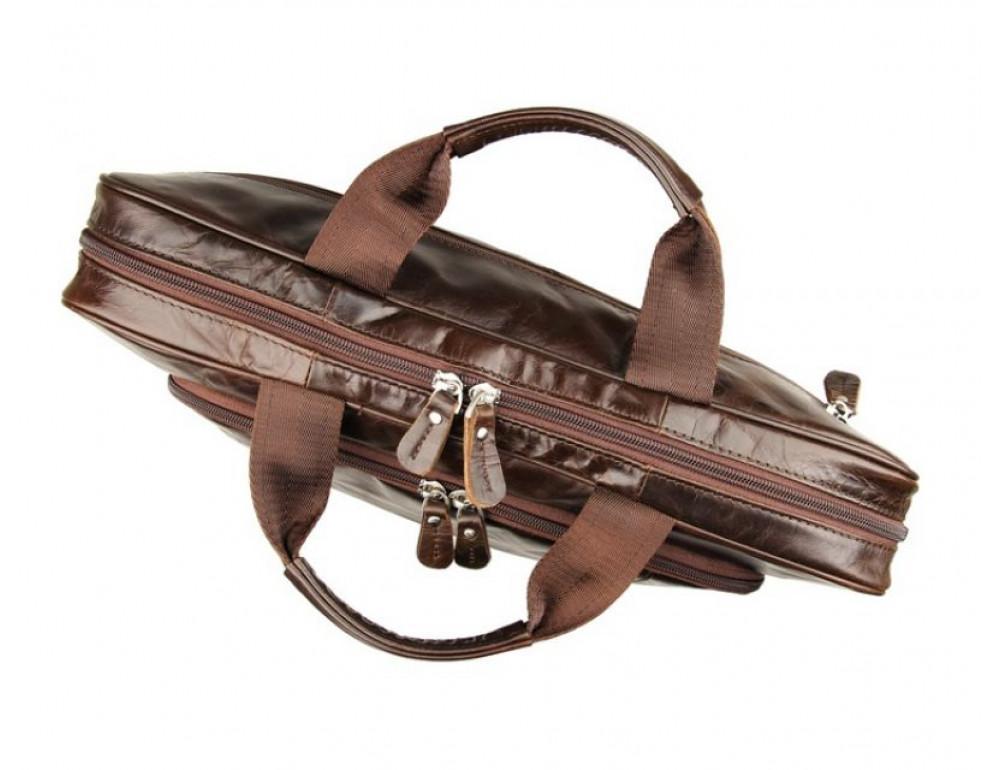 Чоловік шкіряний портфель JASPER-MAINE 7334Q - Фотографія № 4