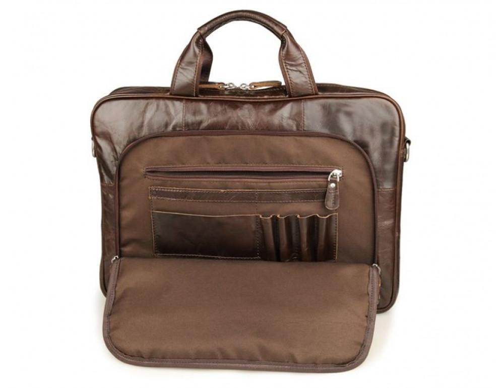 Чоловік шкіряний портфель JASPER-MAINE 7334Q - Фотографія № 5