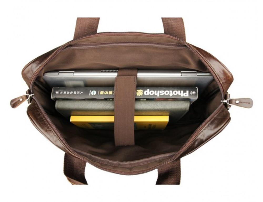 Чоловік шкіряний портфель JASPER-MAINE 7334Q - Фотографія № 6