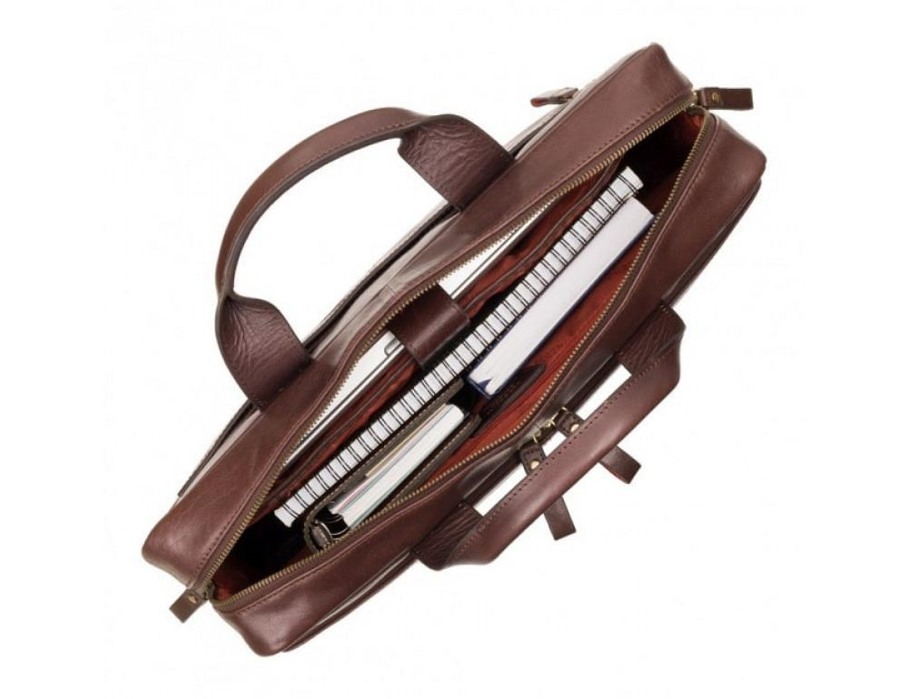 """Кожаная сумка для ноутбука 13"""" Visconti ML30 brn (с зашитой RFID) коричневая - Фото № 2"""
