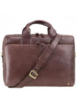 """Кожаная сумка для ноутбука 13"""" Visconti ML30 brn (с зашитой RFID) коричневая"""