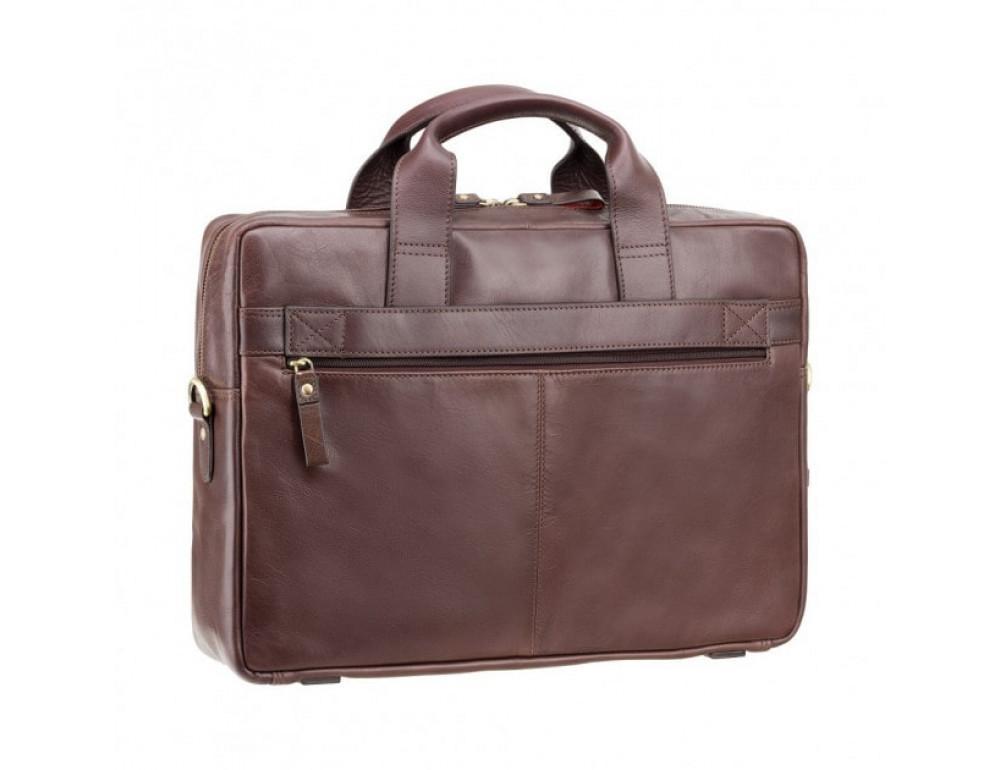 """Кожаная сумка для ноутбука 13"""" Visconti ML30 brn (с зашитой RFID) коричневая - Фото № 4"""