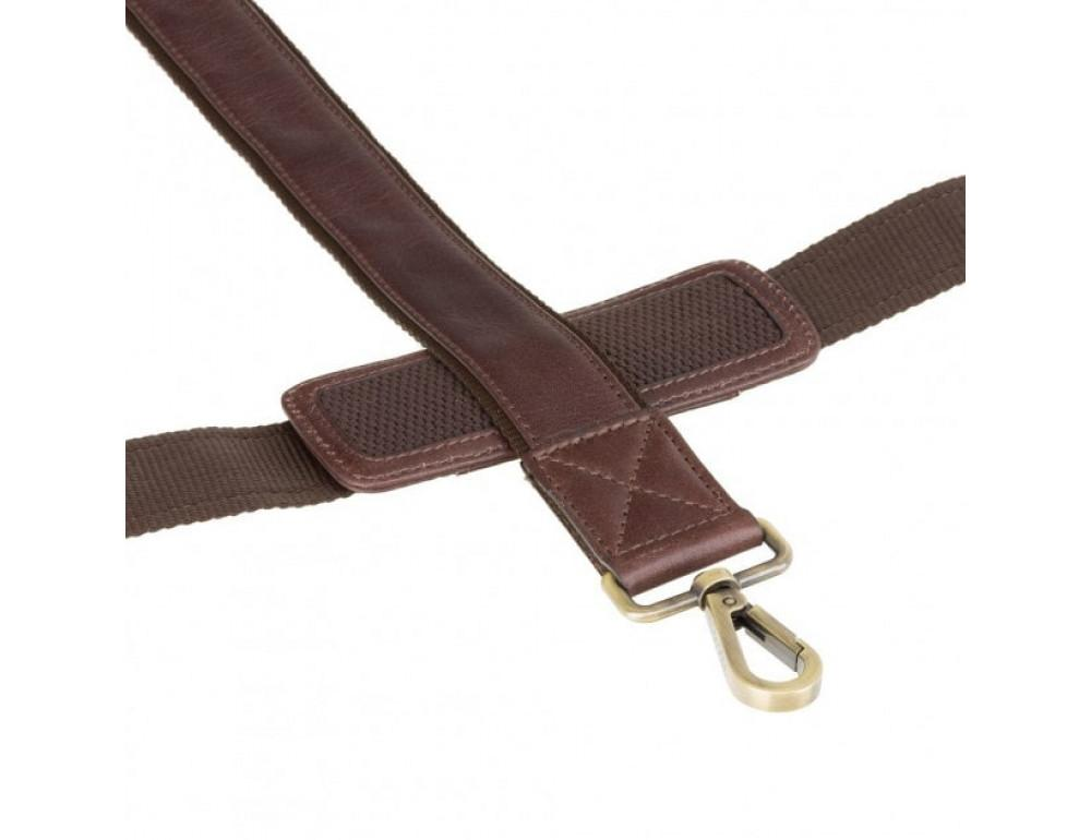 """Кожаная сумка для ноутбука 13"""" Visconti ML30 brn (с зашитой RFID) коричневая - Фото № 5"""