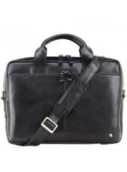 """Шкіряна сумка для ноутбука 13 """"Visconti ML30 Hugo (з захистом RFID) Чорна"""