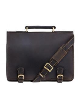 Кожаный портфель 16134XL - Hulk тёмно-коричневый