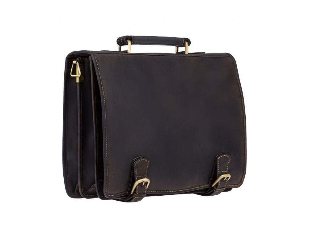 Кожаный портфель 16134XL - Hulk тёмно-коричневый - Фото № 3