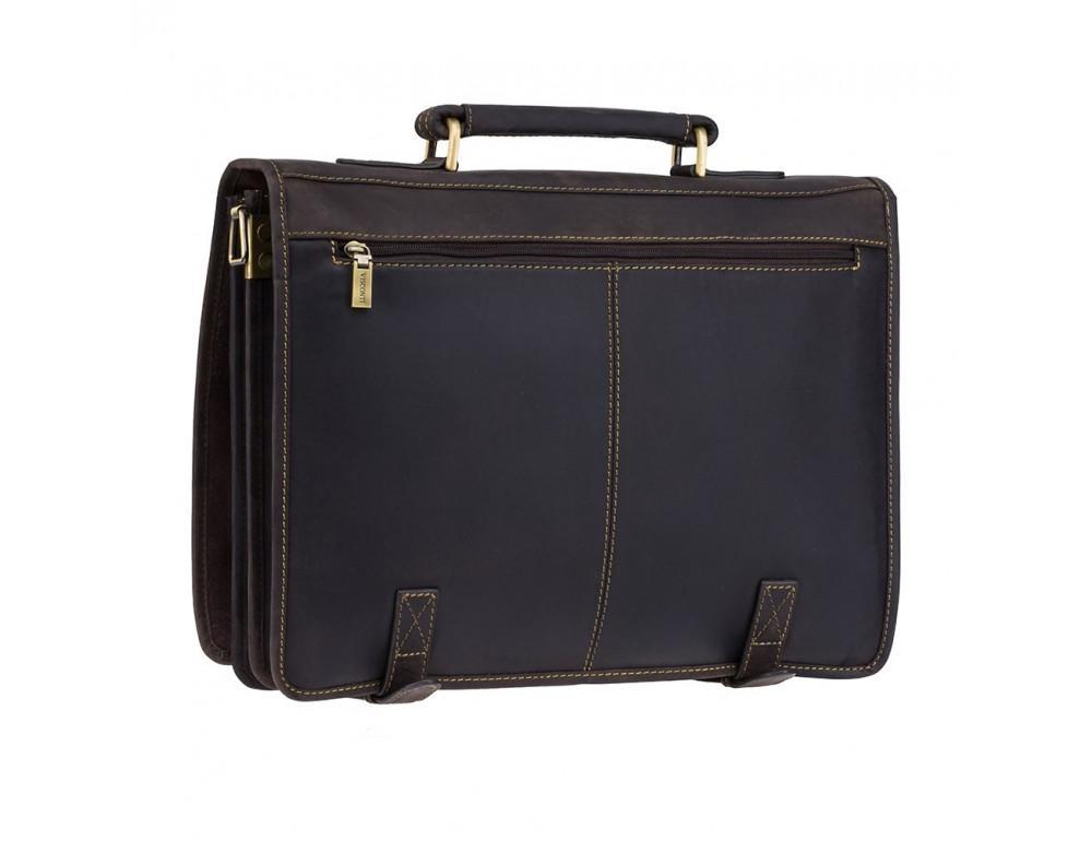 Кожаный портфель 16134XL - Hulk тёмно-коричневый - Фото № 4