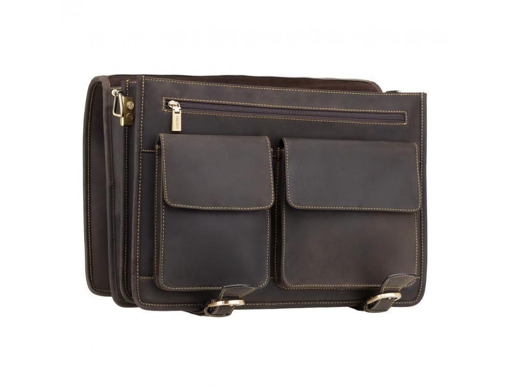 Кожаный портфель 16134XL - Hulk тёмно-коричневый - Фото № 5