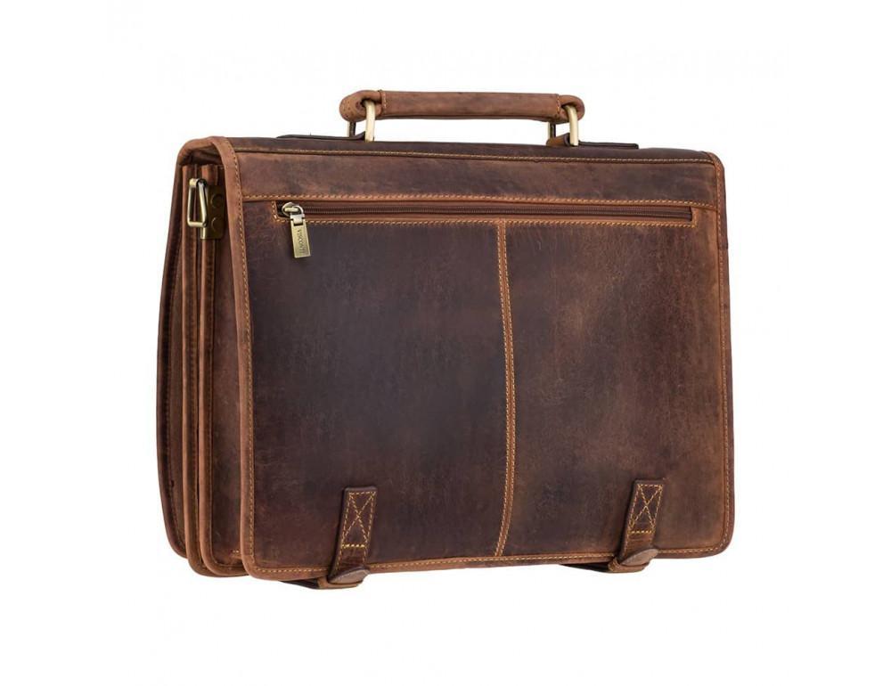 Кожаный портфель 16134XL oil tan - Hulk коричневый - Фото № 3