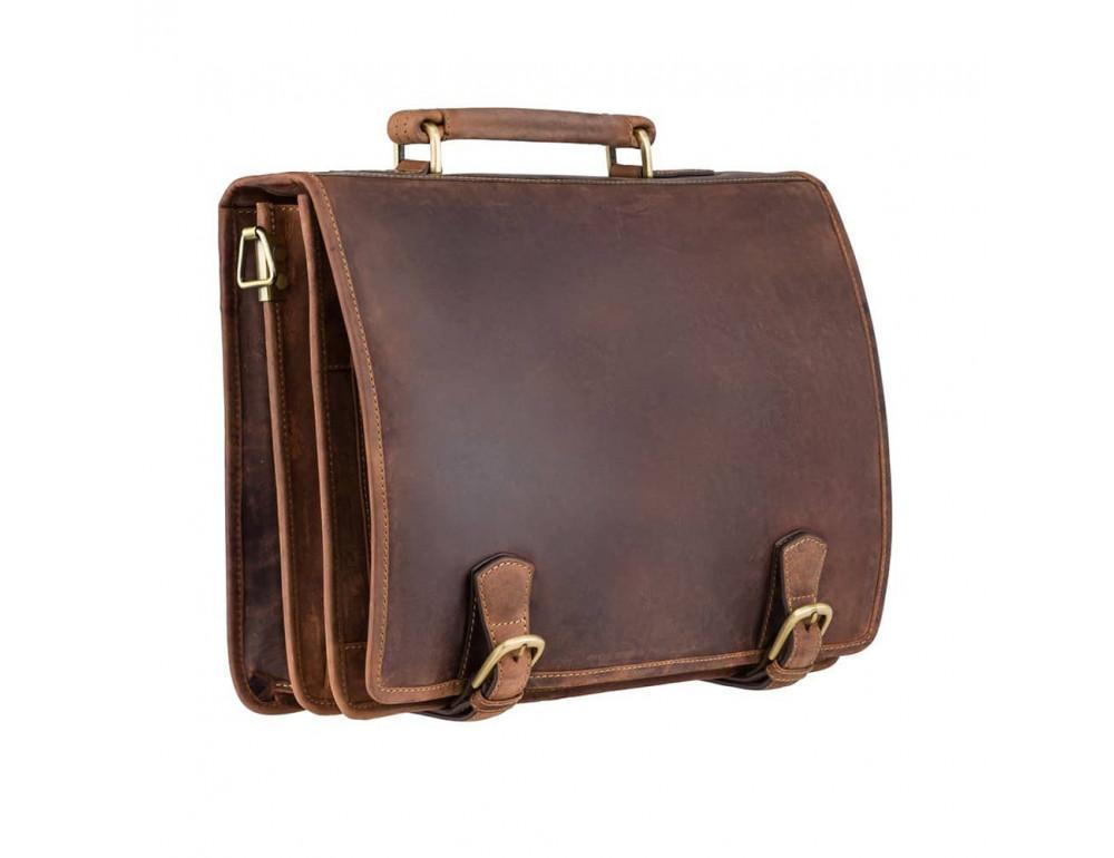 Кожаный портфель 16134XL oil tan - Hulk коричневый - Фото № 4