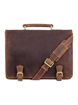 Шкіряний портфель 16134XL oil tan - Hulk коричневий