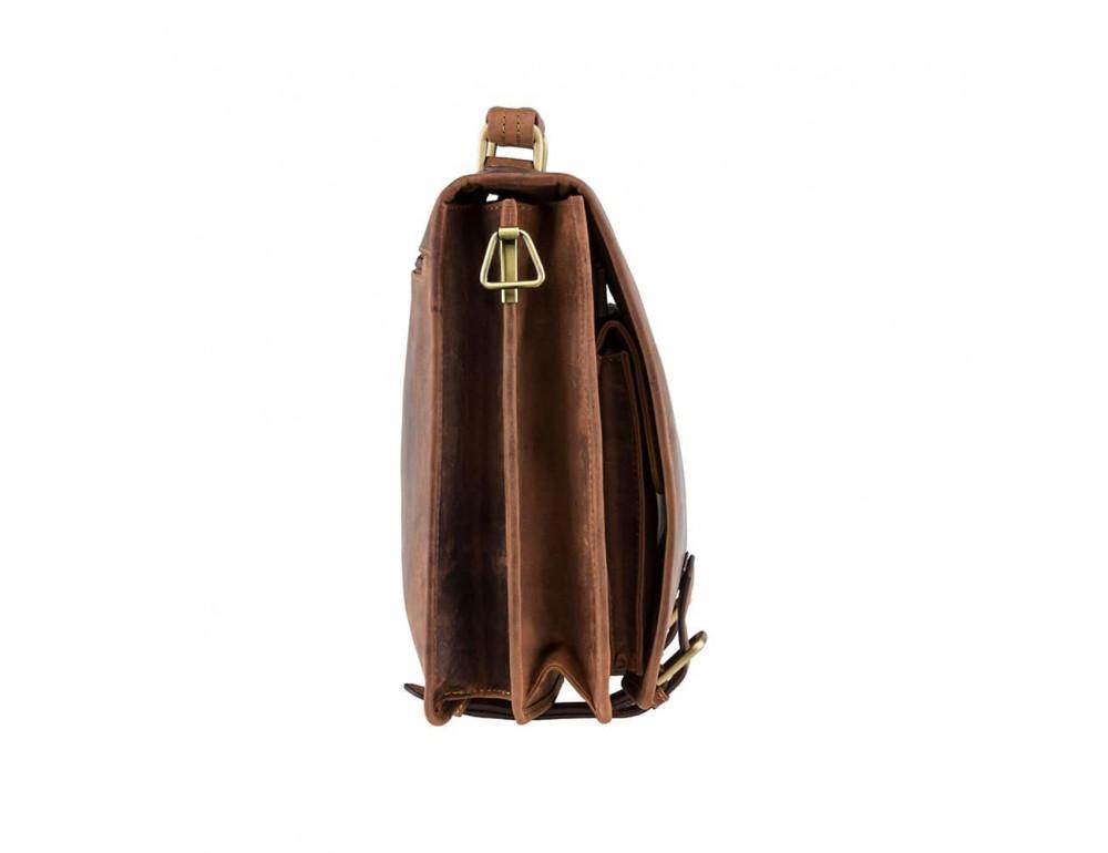 Кожаный портфель 16134XL oil tan - Hulk коричневый - Фото № 5