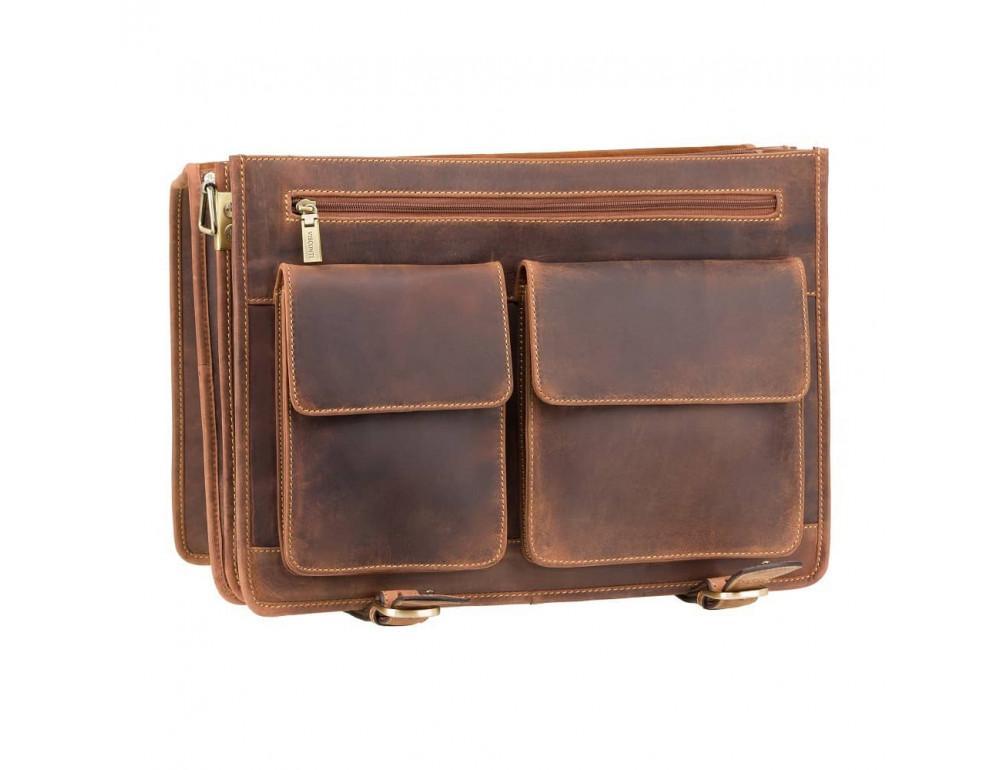 Кожаный портфель 16134XL oil tan - Hulk коричневый - Фото № 6