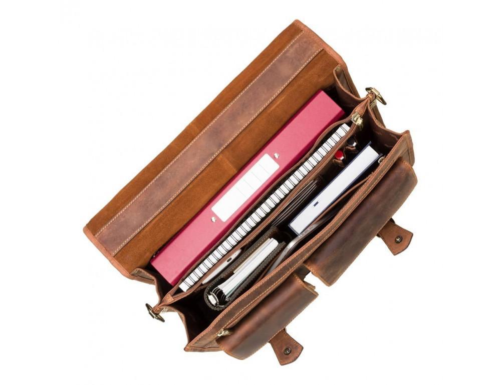 Кожаный портфель 16134XL oil tan - Hulk коричневый - Фото № 8
