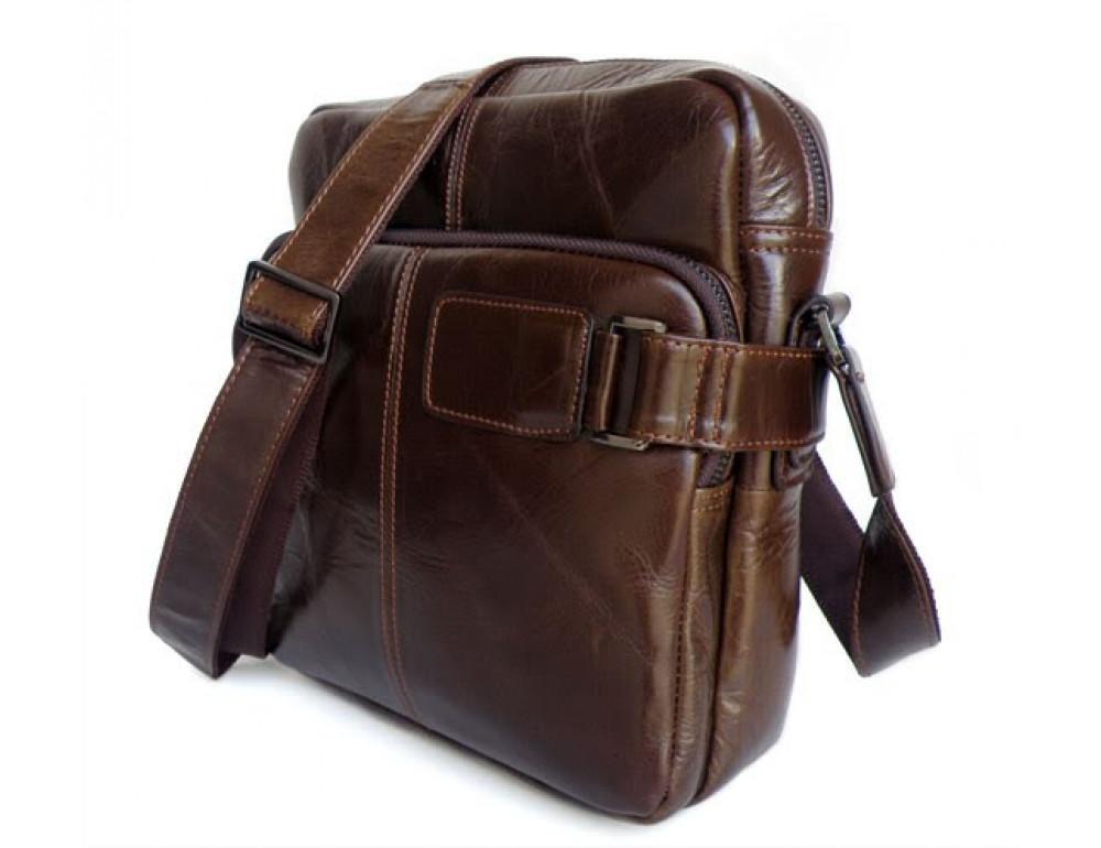 Мужская кожаная сумка через плечо TIDING BAG 6012 - Фото № 7