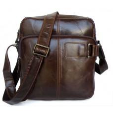 Чоловіча шкіряна сумка через плече TIDING BAG 6012