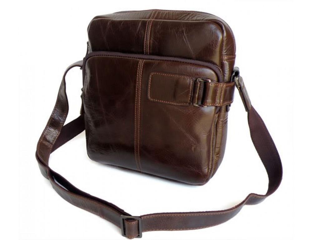 Мужская кожаная сумка через плечо TIDING BAG 6012 - Фото № 6