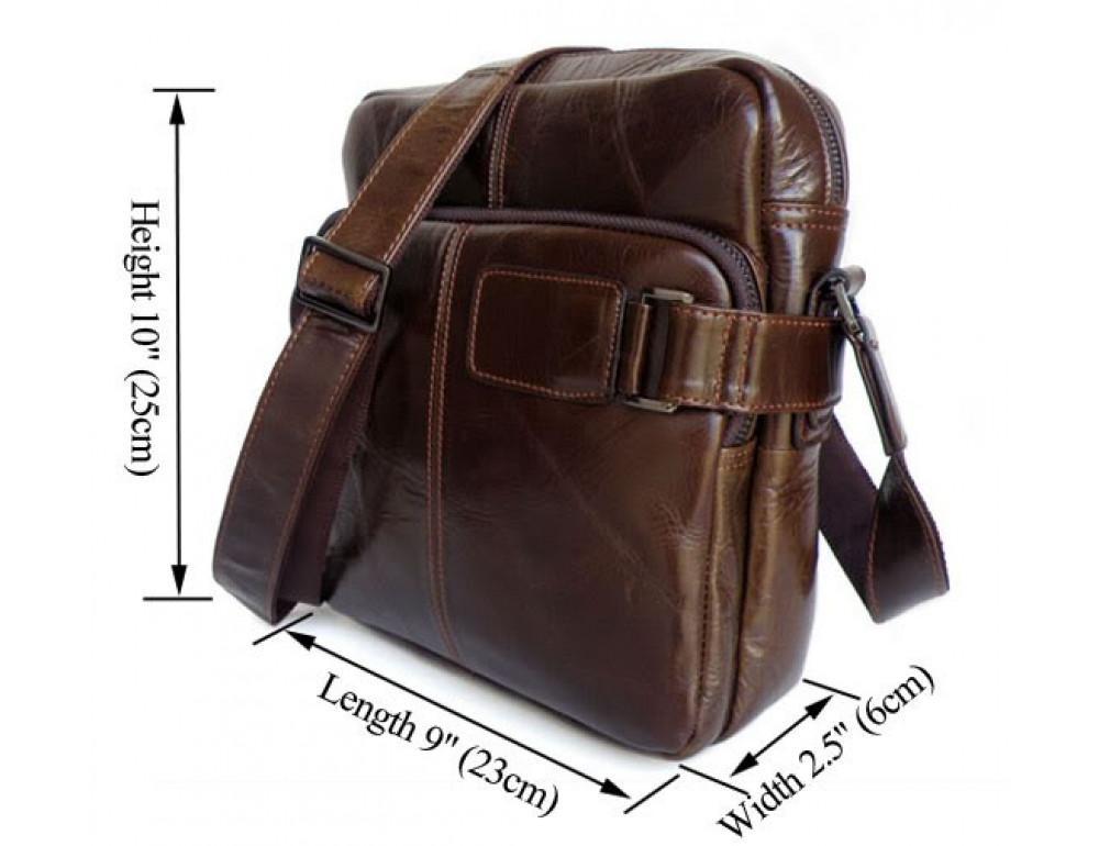 Мужская кожаная сумка через плечо TIDING BAG 6012 - Фото № 5