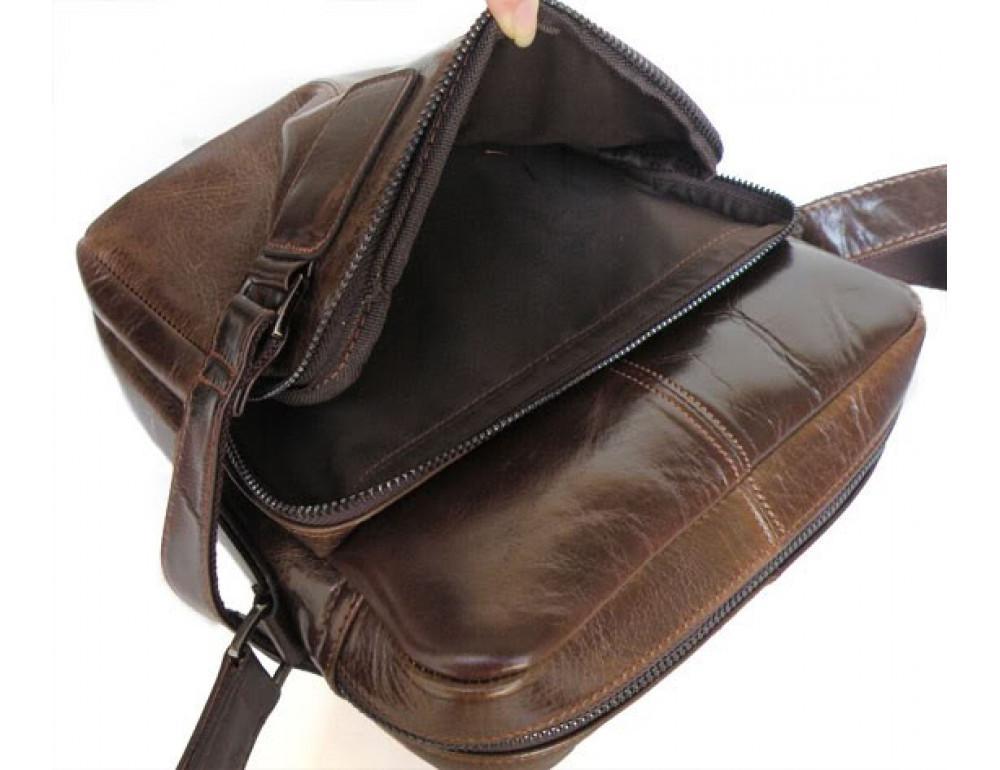 Мужская кожаная сумка через плечо TIDING BAG 6012 - Фото № 2