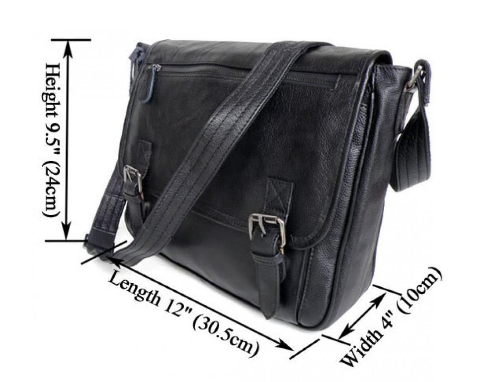 Кожаная сумка через плечо TIDING BAG  6046 - Фото № 6