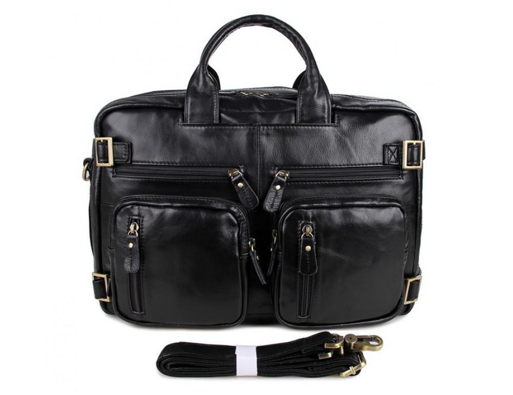 Кожаная сумка-рюкзак JASPER & MAINE 7026A - Фото № 7