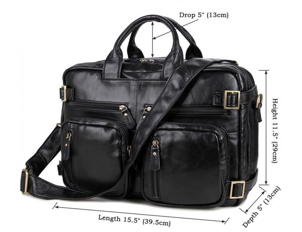 Кожаная сумка-рюкзак JASPER & MAINE 7026A - Фото № 6