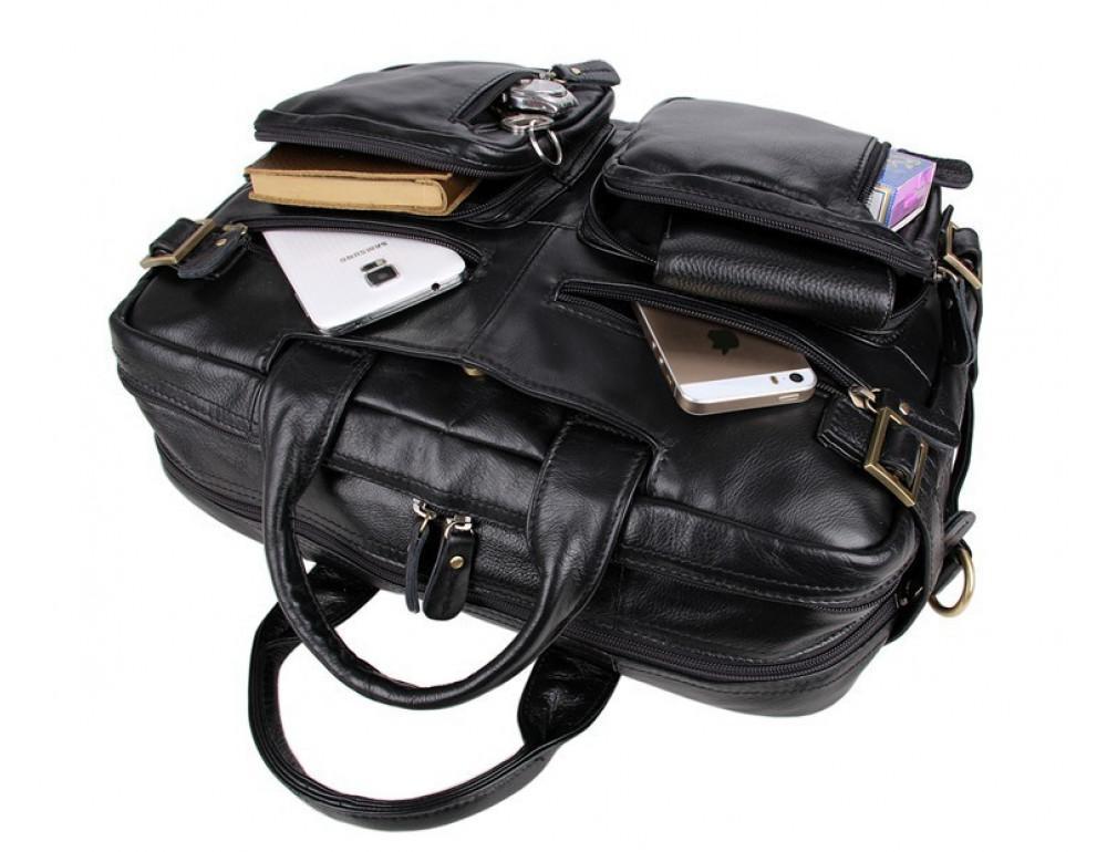 Кожаная сумка-рюкзак JASPER & MAINE 7026A - Фото № 3