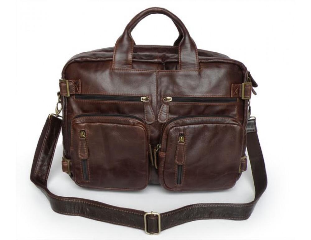 Кожаная сумка рюкзак JASPER&MAINE 7026R - Фото № 4