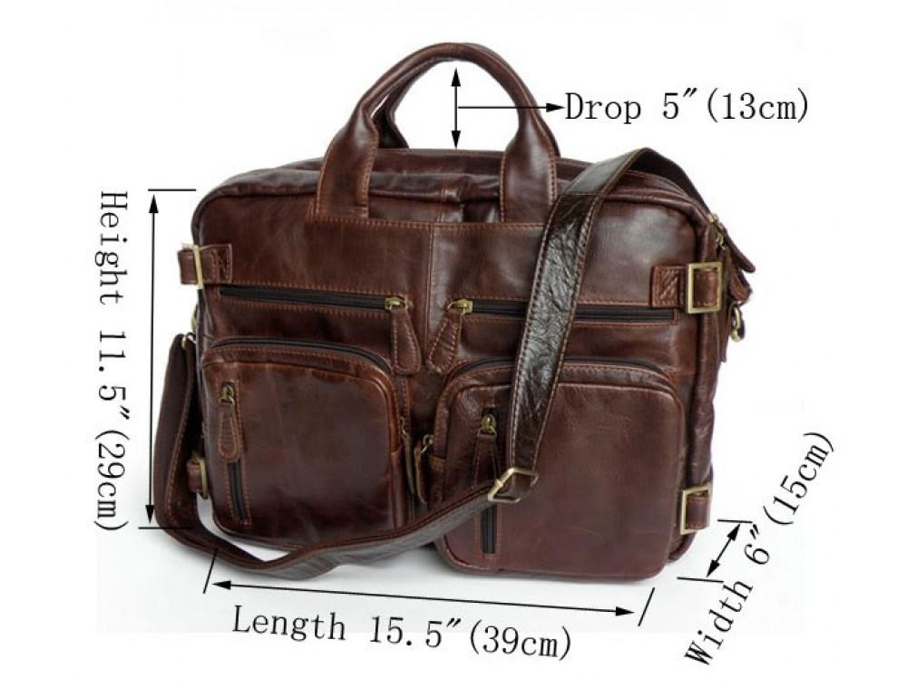 Кожаная сумка рюкзак JASPER&MAINE 7026R - Фото № 3
