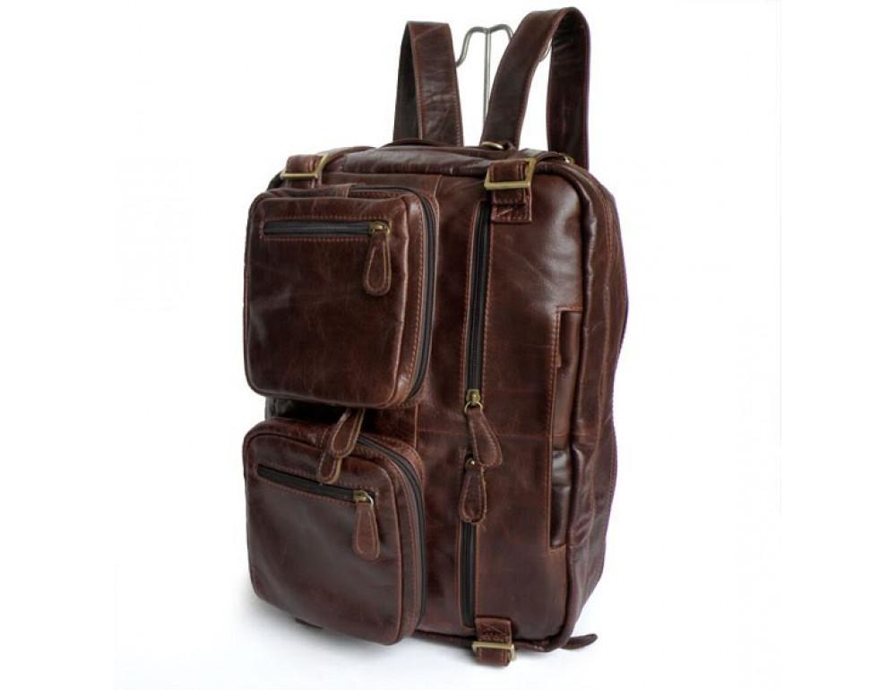 Кожаная сумка рюкзак JASPER&MAINE 7026R - Фото № 2