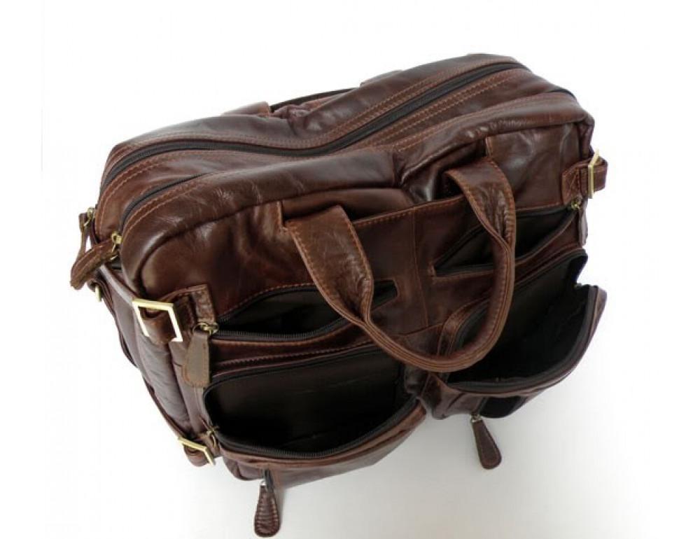 Кожаная сумка рюкзак JASPER&MAINE 7026R - Фото № 7
