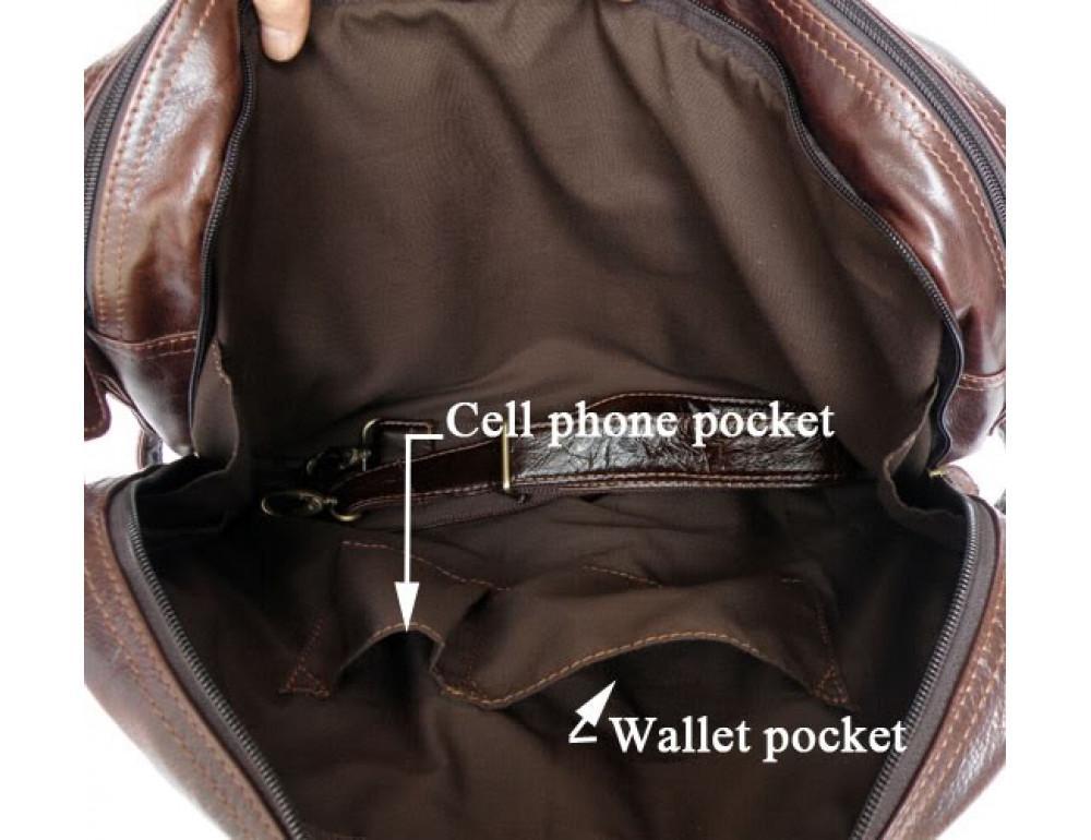 Кожаная сумка рюкзак JASPER&MAINE 7026R - Фото № 8
