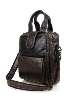 Мужская кожаная сумка-мессенджер TIDING BAG 7266J