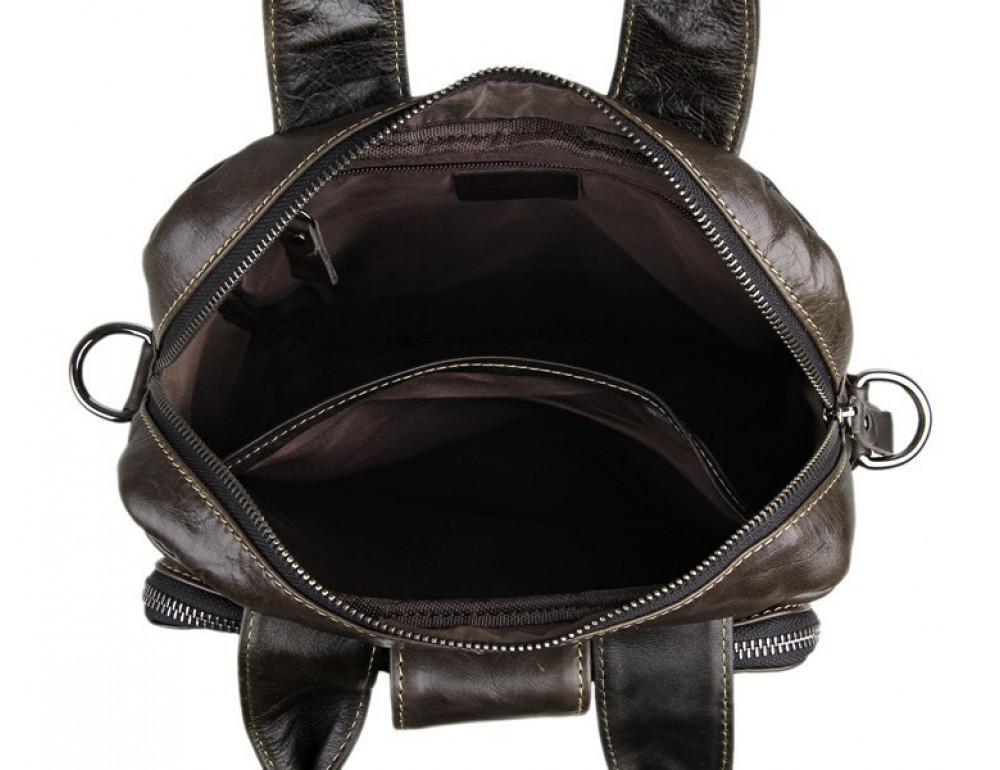 Мужская кожаная сумка-мессенджер TIDING BAG 7266J - Фото № 10