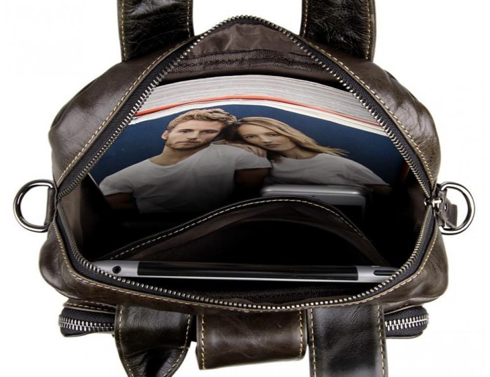 Мужская кожаная сумка-мессенджер TIDING BAG 7266J - Фото № 9