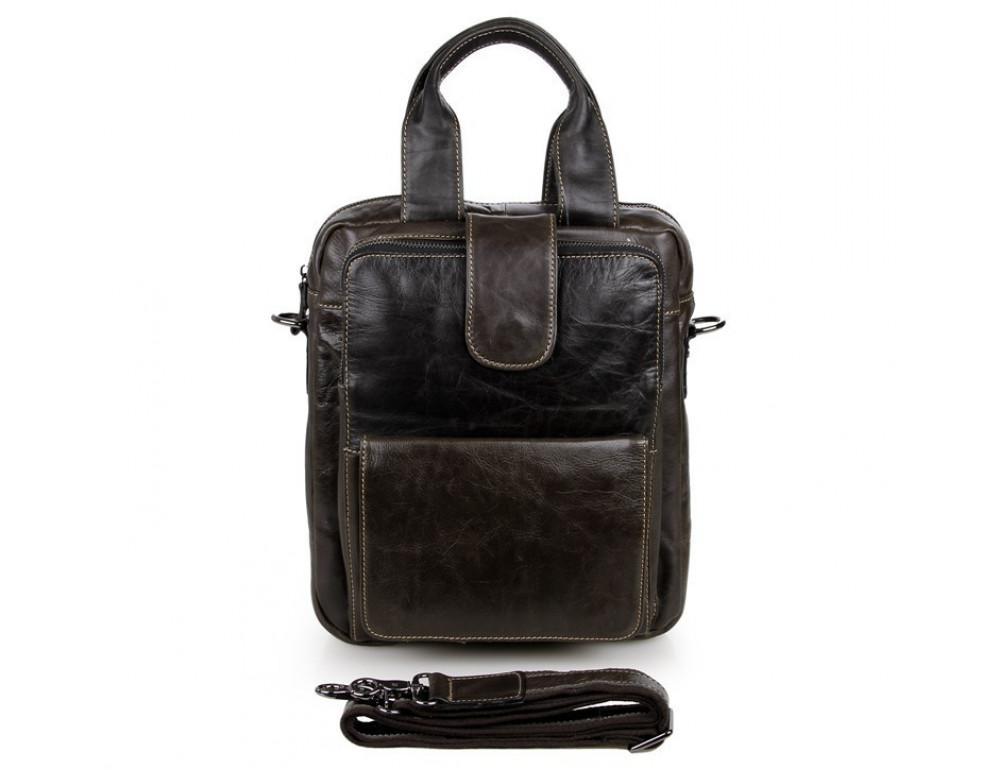 Мужская кожаная сумка-мессенджер TIDING BAG 7266J - Фото № 8