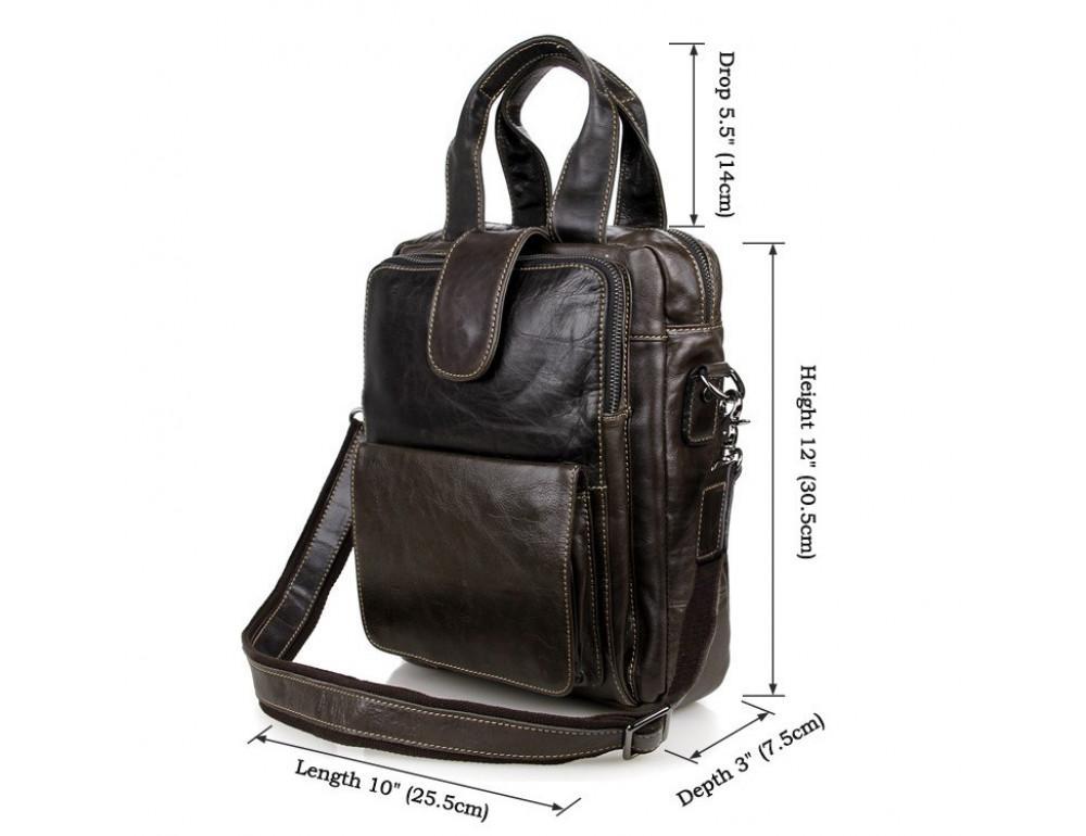 Мужская кожаная сумка-мессенджер TIDING BAG 7266J - Фото № 7