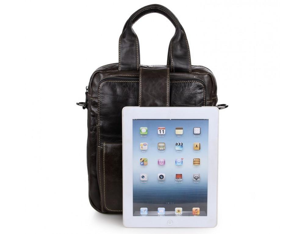 Мужская кожаная сумка-мессенджер TIDING BAG 7266J - Фото № 2