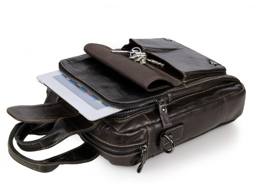 Мужская кожаная сумка-мессенджер TIDING BAG 7266J - Фото № 4