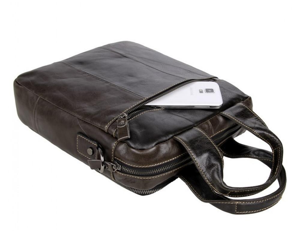 Мужская кожаная сумка-мессенджер TIDING BAG 7266J - Фото № 5