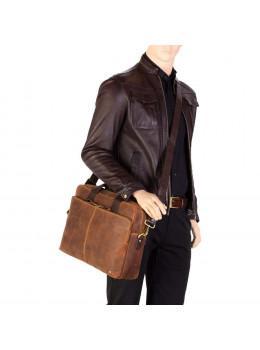 85316b504a68 Кожаная сумка для ноутбука 15'' Visconti Toscana TC84 Hugo c RFID коричневая
